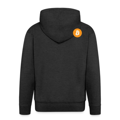 Bitcoin Logo - Men's Premium Hooded Jacket