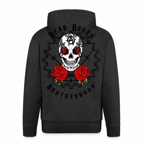 Dead Roses 2nd Logo - Men's Premium Hooded Jacket