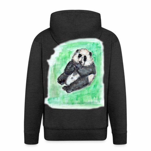 Scruffy panda - Men's Premium Hooded Jacket