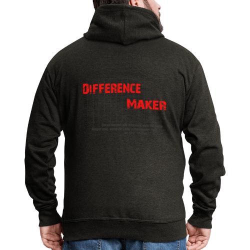 Difference Maker dunkel - Männer Premium Kapuzenjacke