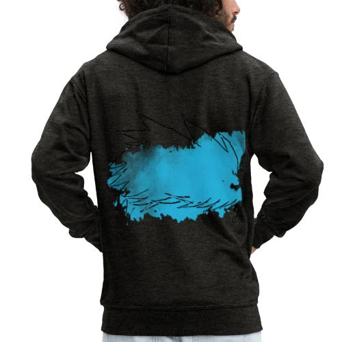 Blue Splat Original - Men's Premium Hooded Jacket