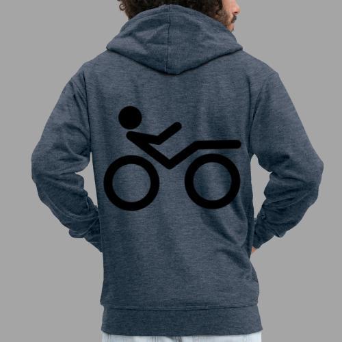 Recumbent bike black 2 - Miesten premium vetoketjullinen huppari