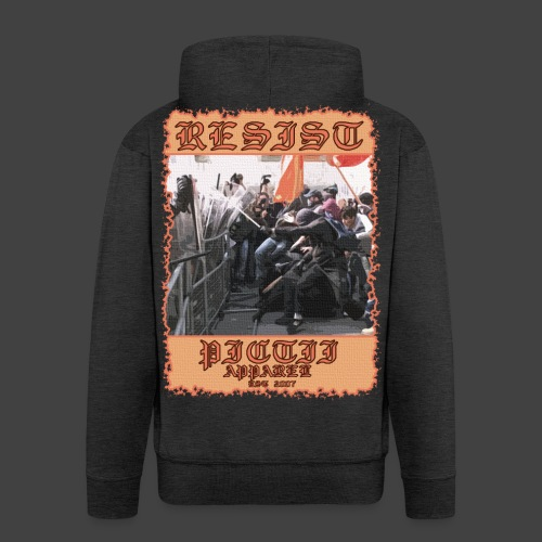 PICTRESIST8 - COL1 - Men's Premium Hooded Jacket