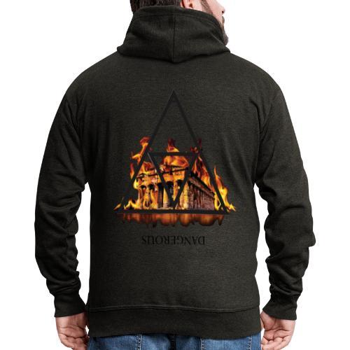 DANGEROUS FIRE - Felpa con zip Premium da uomo