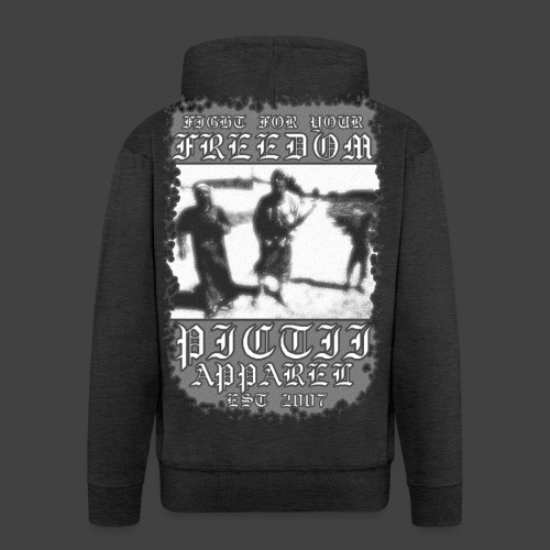 PICTFREE1 - BW - Men's Premium Hooded Jacket