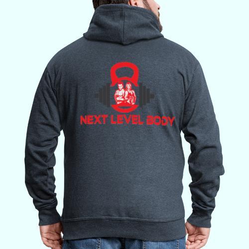 NEXT LEVEL BODY - Miesten premium vetoketjullinen huppari