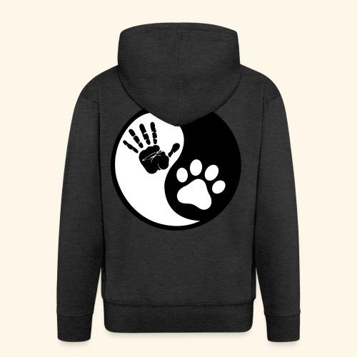 Hunde Yin Yang T-Shirt - Männer Premium Kapuzenjacke