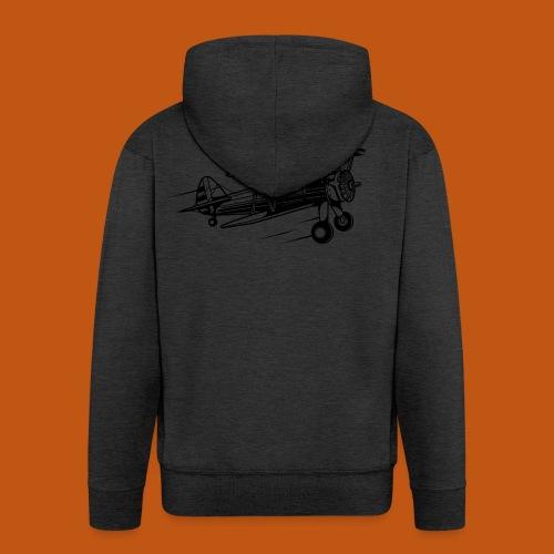 Flieger / Airplane 01_schwarz - Männer Premium Kapuzenjacke