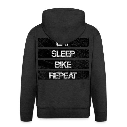 eat sleep bike repeat Used look - Männer Premium Kapuzenjacke