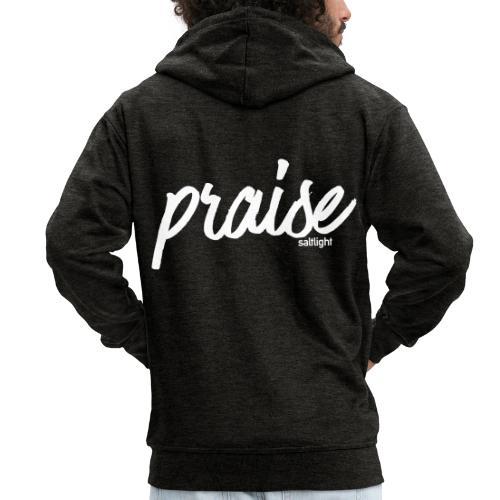 Praise (WHITE) - Men's Premium Hooded Jacket