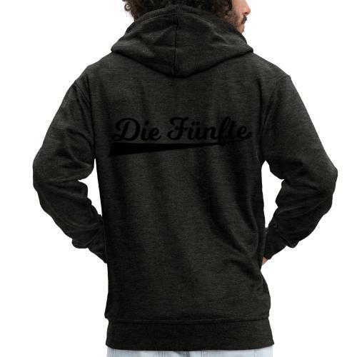 Die Fünfte Retro - Schwarz - Männer Premium Kapuzenjacke