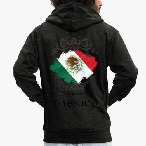 Mexico Vintage Bandera - Männer Premium Kapuzenjacke
