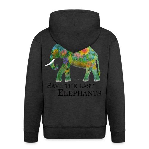 Save The Last Elephants - Männer Premium Kapuzenjacke