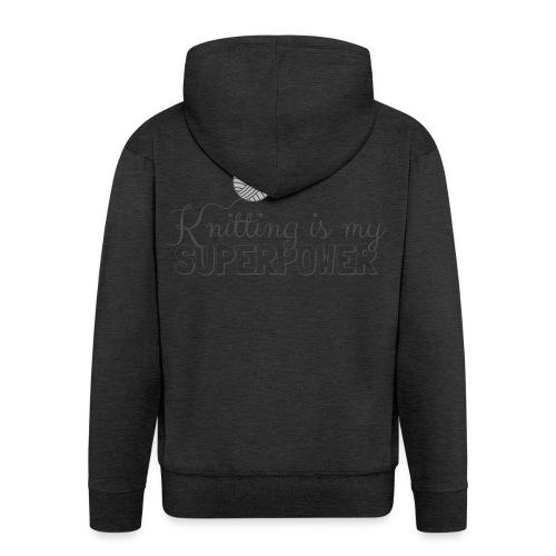 Knitting Is My Superpower - Men's Premium Hooded Jacket