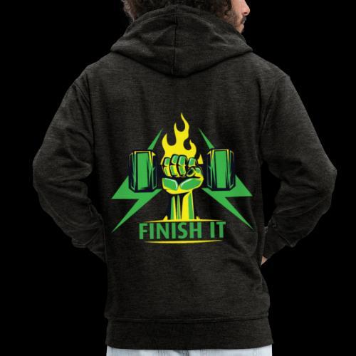 Finish IT - Men's Premium Hooded Jacket