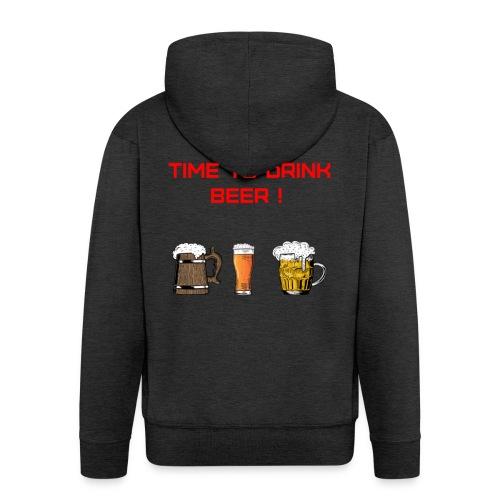 Time to drink beer ! - Veste à capuche Premium Homme