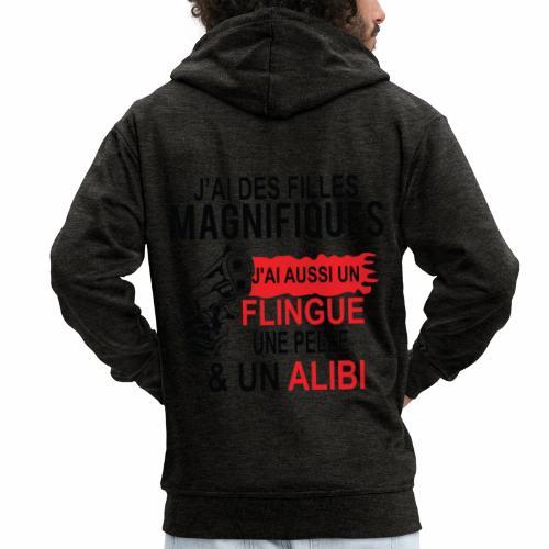 J'AI DEUX FILLES MAGNIFIQUES Best t-shirts 25% - Veste à capuche Premium Homme