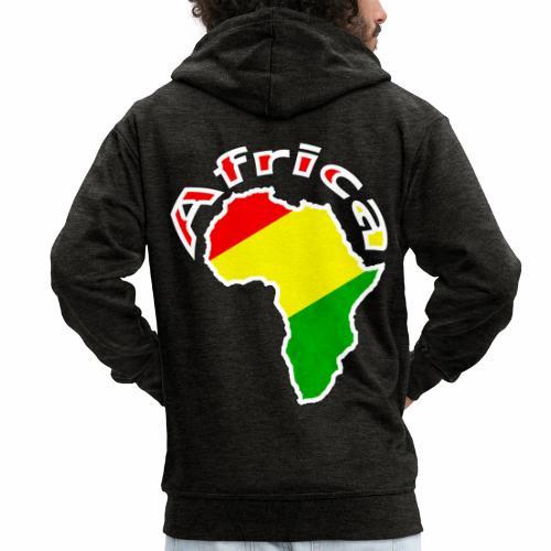 Afrika - rot gold grün - Männer Premium Kapuzenjacke