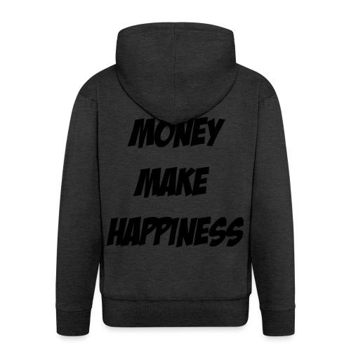 Money Make Happiness - Felpa con zip Premium da uomo