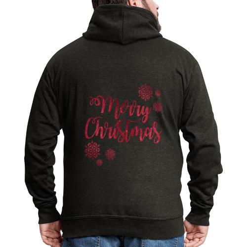 Merry christmas Noël New shape fane design vintage - Veste à capuche Premium Homme