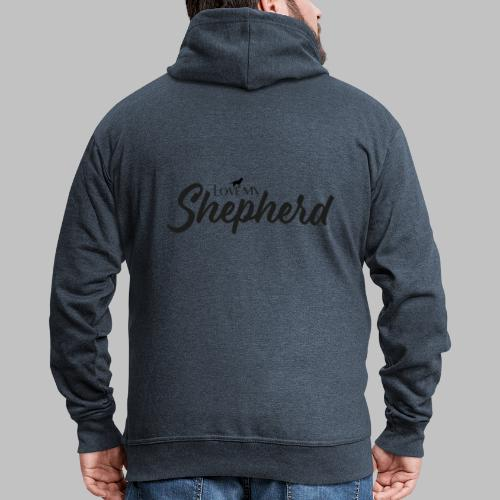 LOVE MY SHEPHERD - Black Edition - Dog Lover - Männer Premium Kapuzenjacke