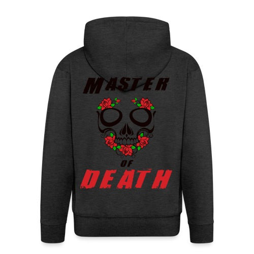 Master of death - black - Rozpinana bluza męska z kapturem Premium