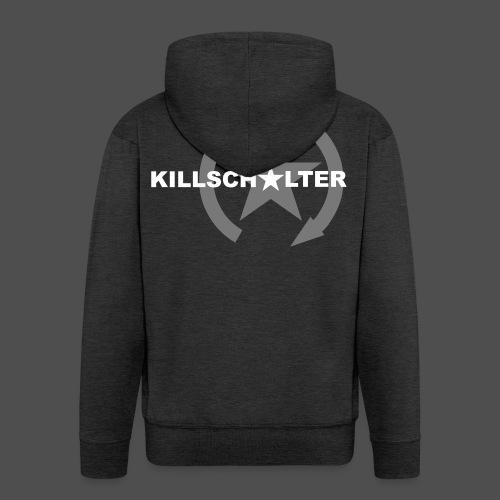 Logo marki KILLSCHALTER - Rozpinana bluza męska z kapturem Premium