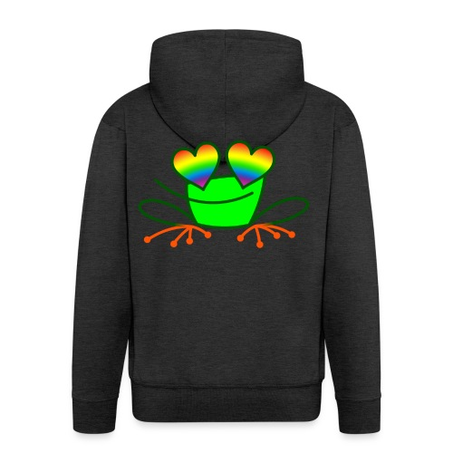 Pride Frog in Love - Men's Premium Hooded Jacket