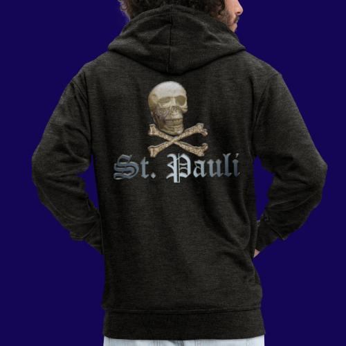 St. Pauli (Hamburg) Piraten Symbol mit Schädel - Männer Premium Kapuzenjacke