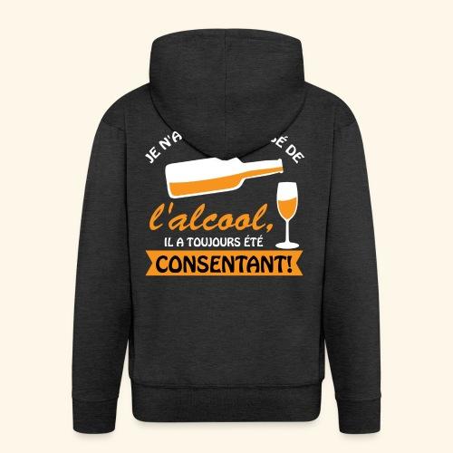 alcool - Veste à capuche Premium Homme