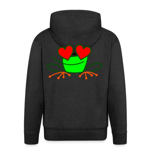 Frog in Love - Men's Premium Hooded Jacket