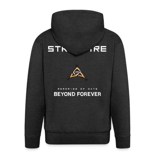 Stromfire_orange_full - Männer Premium Kapuzenjacke
