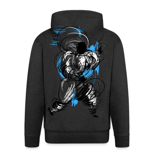 Kung Fu wizard - Men's Premium Hooded Jacket