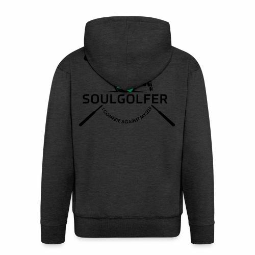 I compete against myself - soulgolfer - Männer Premium Kapuzenjacke
