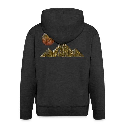 Pyramides hieroglyphic - Veste à capuche Premium Homme