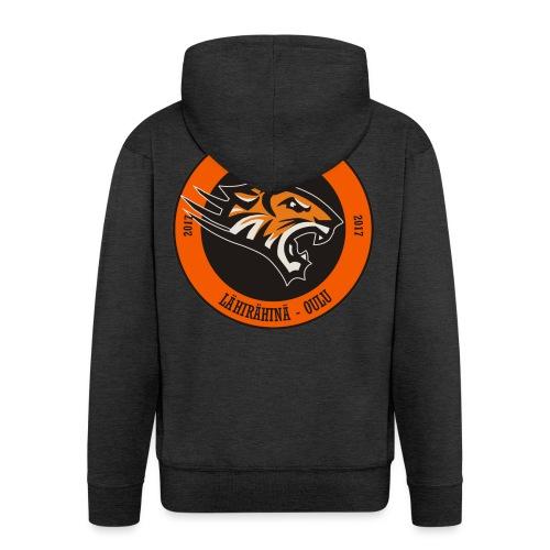 Tuiran Tiikerit, värikäs logo - Miesten premium vetoketjullinen huppari