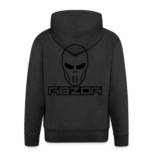 R8ZOR LOGO B/W - Men's Premium Hooded Jacket