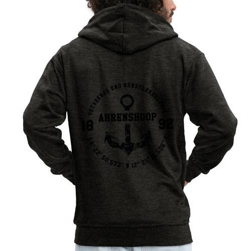Ostseebad und Künstlerkolonie Ahrenshoop schwarz - Männer Premium Kapuzenjacke