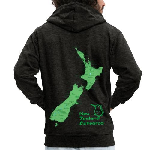 New Zealand's Map - Men's Premium Hooded Jacket