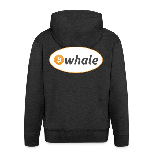 Bitcoin Whale - Men's Premium Hooded Jacket