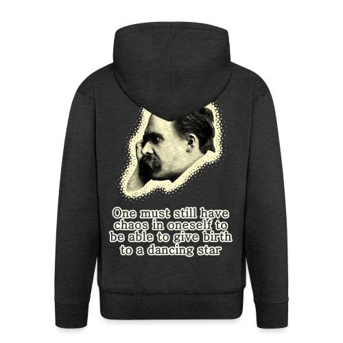 Nietzsche Meme - Men's Premium Hooded Jacket