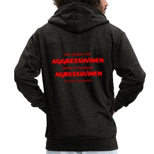 Aggressivinen kielipoliisi - Miesten premium vetoketjullinen huppari