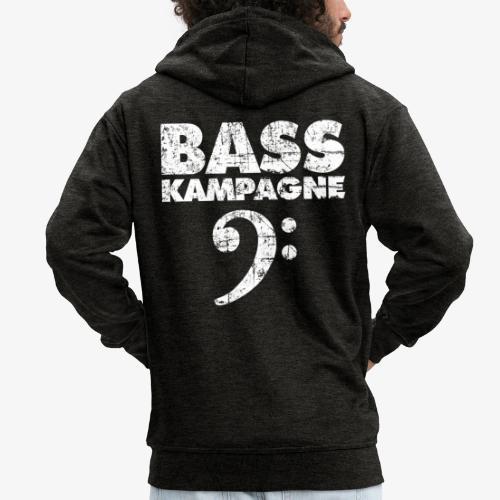 Basskampagne Bass Design Vintage Weiß - Männer Premium Kapuzenjacke