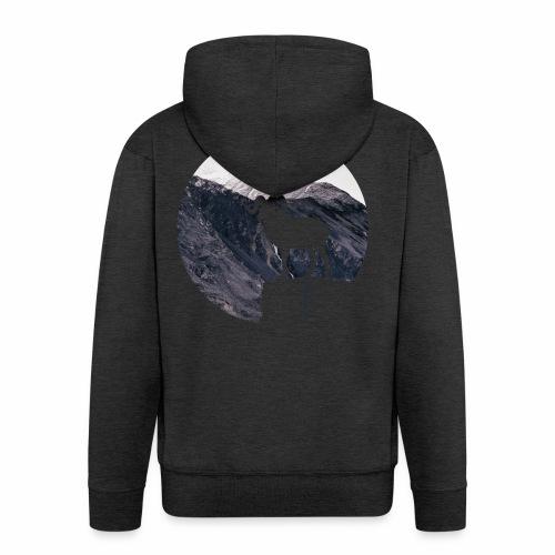 Hiking Outdoor Design mit Bergziege - Bergpanorama - Männer Premium Kapuzenjacke