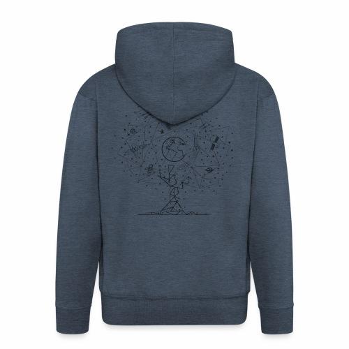 Interpretacja woodspace - Rozpinana bluza męska z kapturem Premium