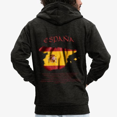 Spain Flag Bandera España - Männer Premium Kapuzenjacke