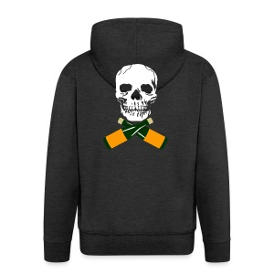 Skull and Bucky Bottles - Men's Premium Hooded Jacket