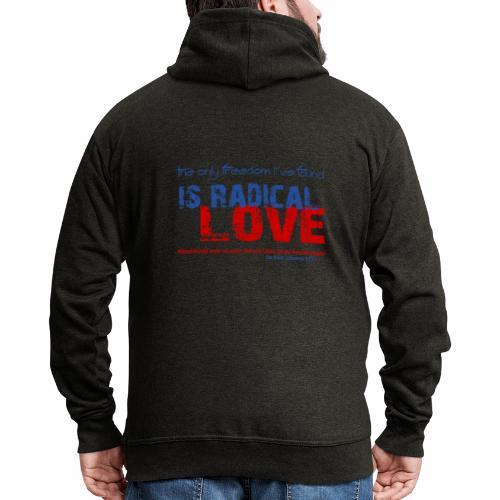 Radikale Liebe blue - Männer Premium Kapuzenjacke