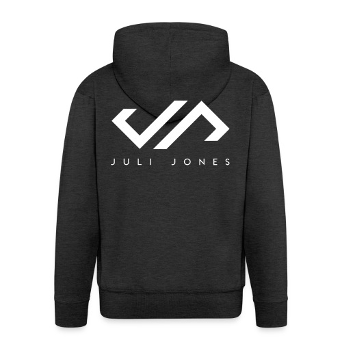 JuliJones white Logo - Männer Premium Kapuzenjacke