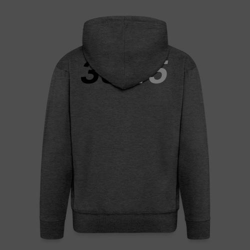 33 45 obrotów na minutę - Rozpinana bluza męska z kapturem Premium